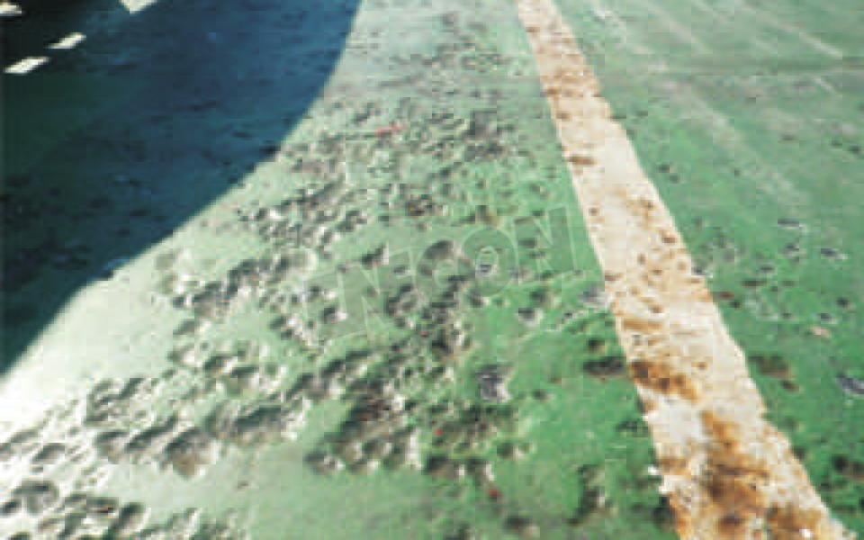 ENECON Italia flies in to repair the decks on this tanker in the Adriatic Sea