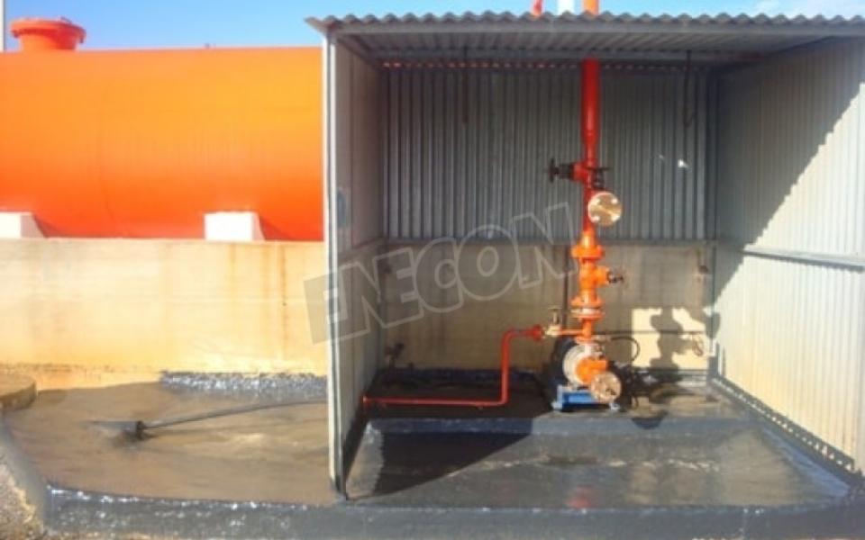 Sulfuric Acid loading area