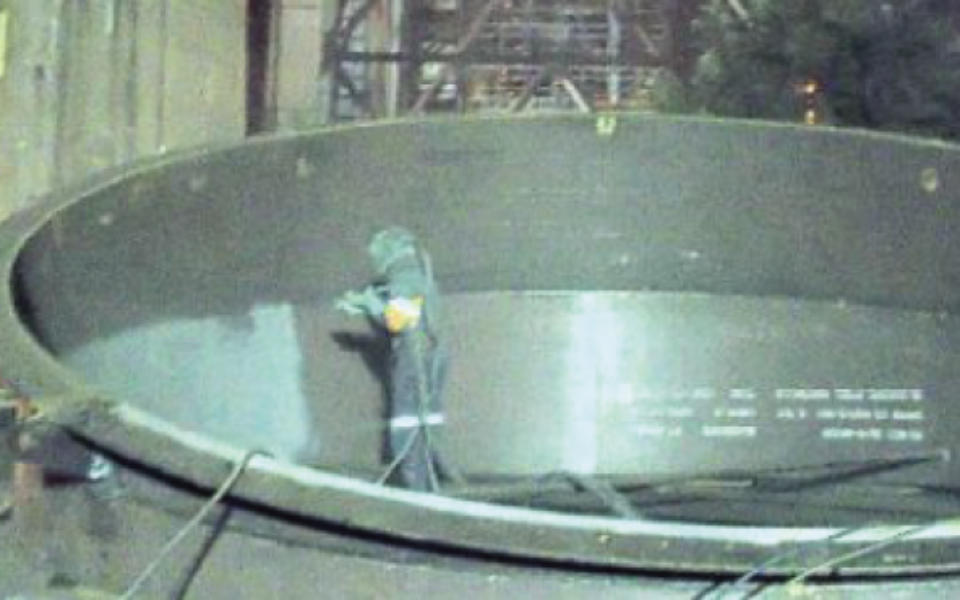 Australian Waste Gas Cleaning Plant Exhaust Stack Protected with CeramAlloy