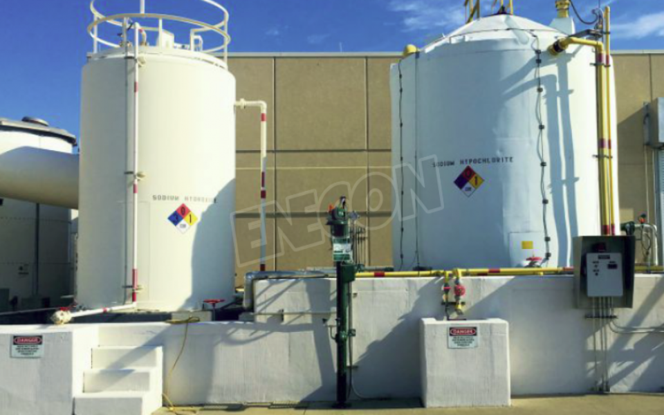 CHEMCLAD SC Protects Concrete Containment Area From Exposure To Sodium Hydroxide
