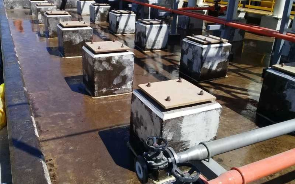 Concrete Secondary Containment Areas Protected