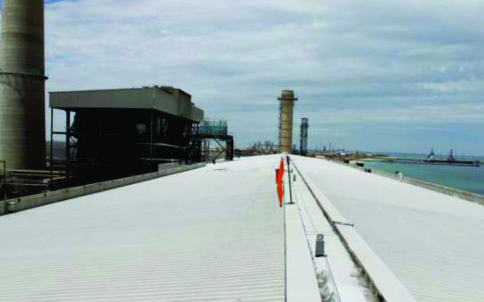 Australian power station protects roof